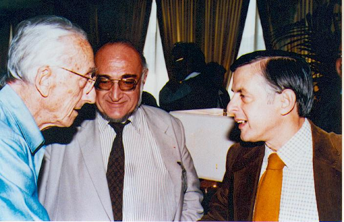 Prof Tasso with Jacques-Yves Cousteau